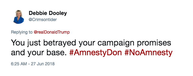 You just betrayed your campaign promises and your base. #AmnestyDon #NoAmnesty