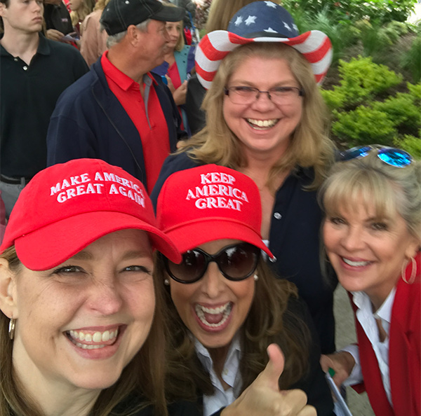 With Tea Party Patriots activists in Houston